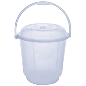 Clear Bucket With Lid And Plastic Handle