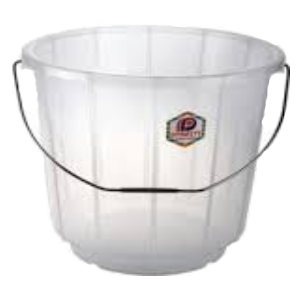 Clear Bucket With Steel Handle