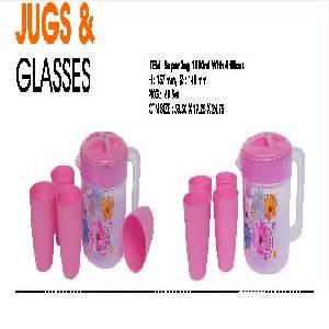 Jug 1500 ML with 4 pcs Glass